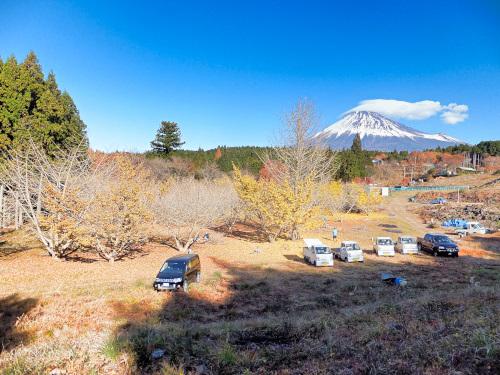富士山が綺麗に見える薪情報の現地