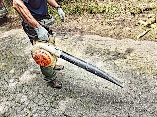 薪狩り後に清掃します