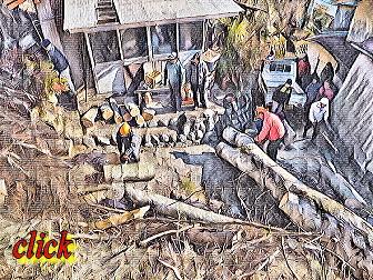 南部町 ケヤキの巨木の薪情報 事例